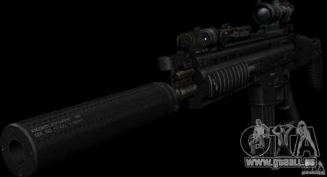 SCAR-L black pour GTA San Andreas deuxième écran