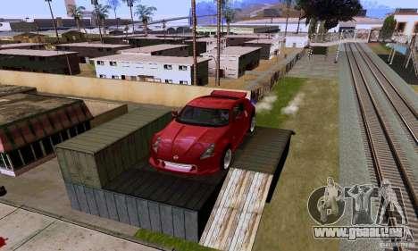 Nissan 370Z für GTA San Andreas Unteransicht