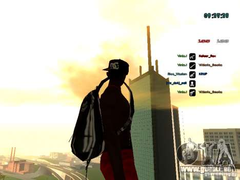 Sac à dos-parachute pour GTA: SA pour GTA San Andreas troisième écran