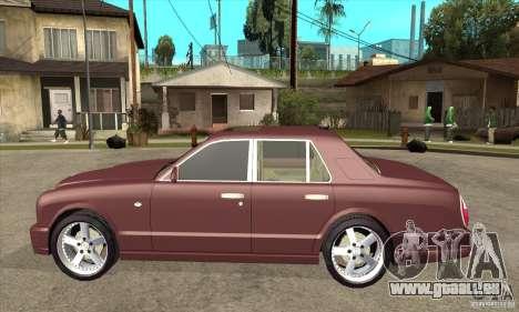 Bentley Arnage GT pour GTA San Andreas laissé vue