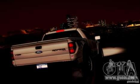 Ford F-150 SVT Raptor V1.0 für GTA San Andreas Innen