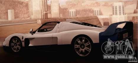 Maserati MC12 V1.0 pour GTA San Andreas vue intérieure