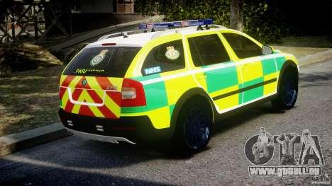 Skoda Octavia Scout Paramedic [ELS] pour GTA 4 est une vue de l'intérieur