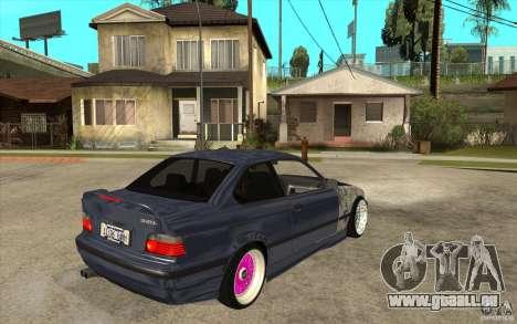 BMW E36 M3 Street Drift Edition pour GTA San Andreas vue de droite