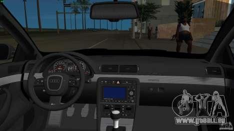 Audi RS4 pour une vue GTA Vice City de l'intérieur