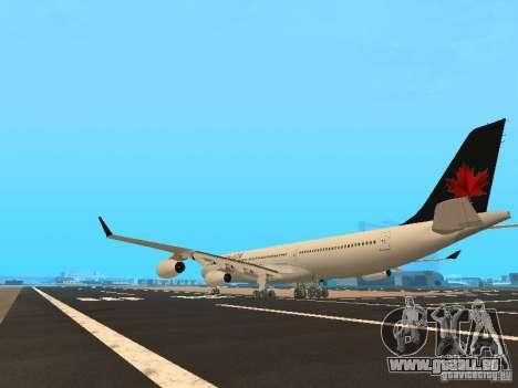 Airbus A340-300 Air Canada pour GTA San Andreas sur la vue arrière gauche