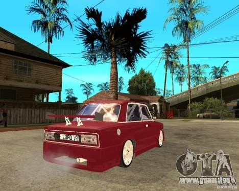Seigneur de VAZ 2106 pour GTA San Andreas sur la vue arrière gauche