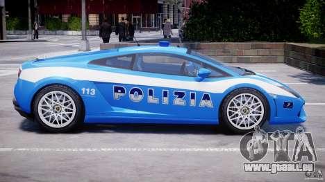 Lamborghini Gallardo LP560-4 Polizia pour GTA 4 est une vue de dessous
