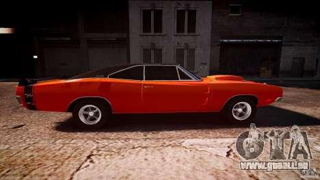 Dodge Charger RT 1969 sport de tun v1.1 pour GTA 4 est une vue de l'intérieur