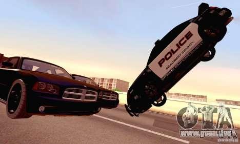 Dodge Charger Fast Five für GTA San Andreas Unteransicht