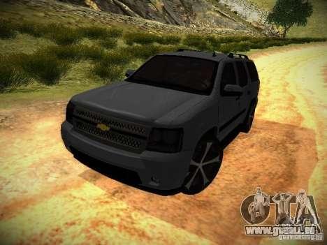 Chevrolet Tahoe HD Rimz pour GTA San Andreas sur la vue arrière gauche