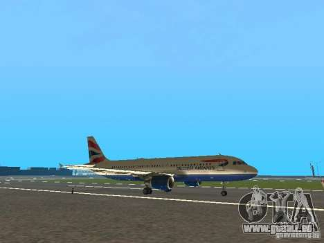 Airbus A320 British Airways für GTA San Andreas linke Ansicht