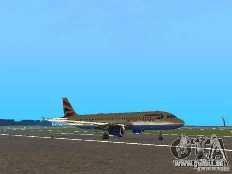 Airbus A320 British Airways für GTA San Andreas linke Ansicht