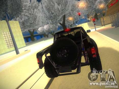 Dodge Ram Prerunner pour GTA San Andreas vue de dessous