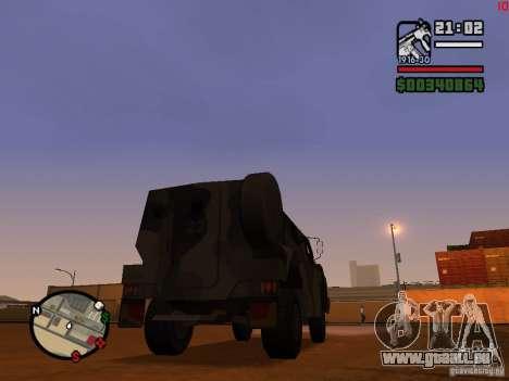 Australian Bushmaster pour GTA San Andreas sur la vue arrière gauche