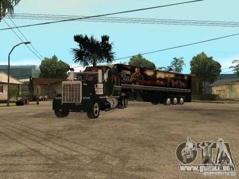 Custom Kenworth w900 - Custom - Trailer für GTA San Andreas rechten Ansicht
