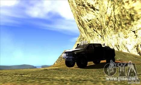 Dodge Ram All Terrain Carryer für GTA San Andreas obere Ansicht