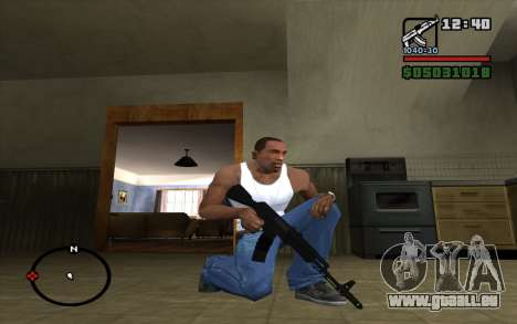 L'AK-74 m pour GTA San Andreas deuxième écran