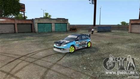 Subaru Impreza WRX STI Rallycross KMC Wheels pour GTA 4