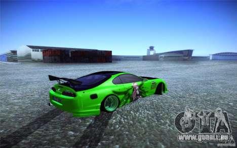 Toyota Supra Tuned pour GTA San Andreas sur la vue arrière gauche