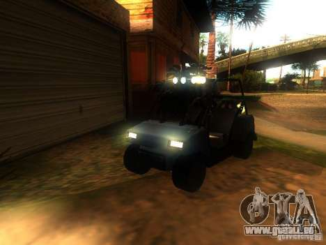 CADDY restylage de v1.0 pour GTA San Andreas vue de dessus