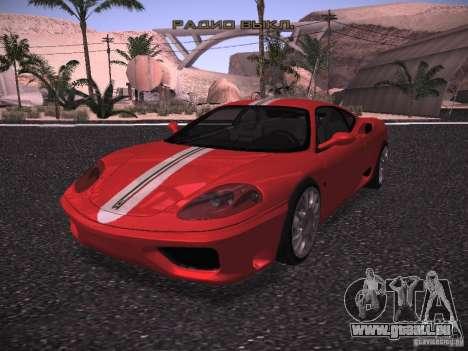 Ferrari 360 Modena pour GTA San Andreas vue arrière