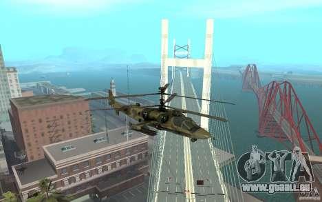KA-52 Alligator für GTA San Andreas rechten Ansicht
