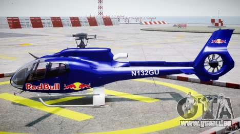 Eurocopter EC130 B4 Red Bull für GTA 4 linke Ansicht