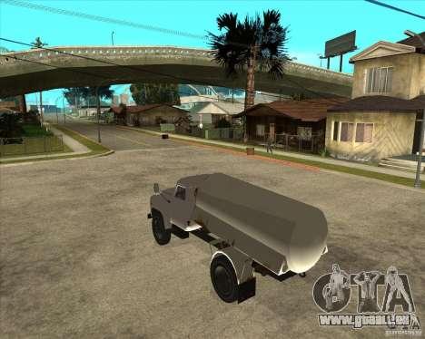 LKW GAZ-52-Kraftstoff für GTA San Andreas linke Ansicht