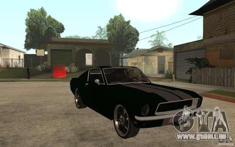 Ford Mustang TOKYO DRIFT für GTA San Andreas Rückansicht