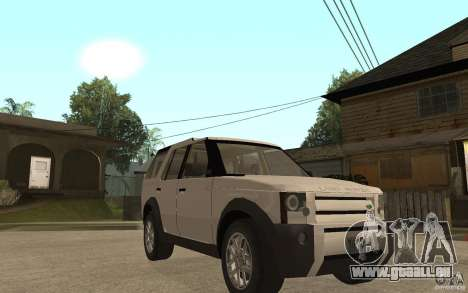 Land Rover Discovery 3 V8 pour GTA San Andreas vue arrière