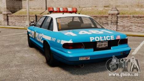 Vapid Police Cruiser ELS pour GTA 4 Vue arrière de la gauche