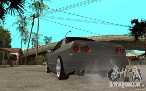 Nissan Skyline R32 - EMzone Edition für GTA San Andreas zurück linke Ansicht