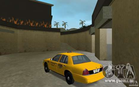 Ford Crown Victoria Taxi pour GTA Vice City sur la vue arrière gauche