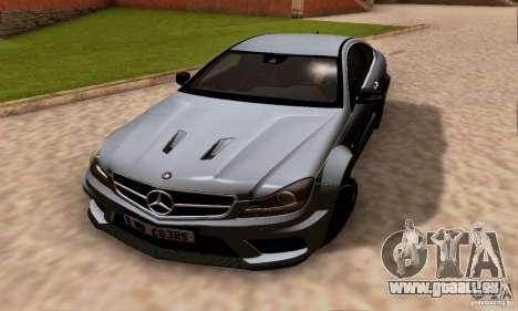 Mercedes-Benz C63 AMG pour GTA San Andreas vue de dessus