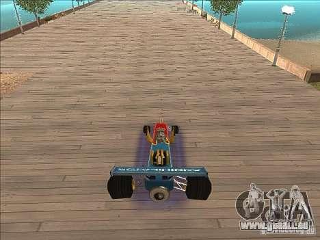 Dragg car pour GTA San Andreas vue arrière
