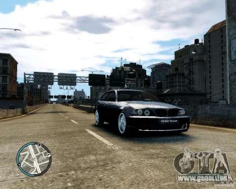 BMW 320i E46 v1.0 pour GTA 4 est une vue de l'intérieur