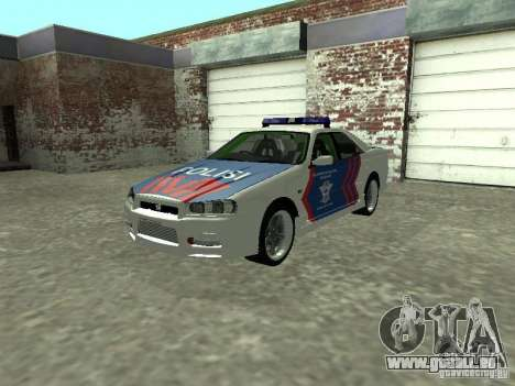 Nissan Skyline Indonesia Police pour GTA San Andreas