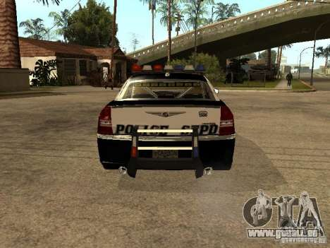 Chrysler 300C Police pour GTA San Andreas vue de droite