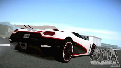 Koenigsegg Agera R 2012 pour GTA San Andreas laissé vue