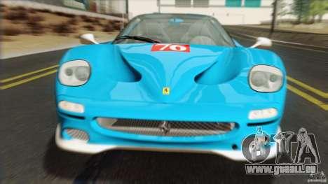 Ferrari F50 v1.0.0 Road Version pour GTA San Andreas vue arrière