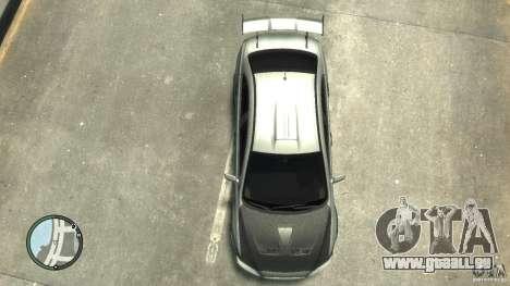 Mitsubishi Lancer Evo X Drift pour GTA 4 est une vue de l'intérieur