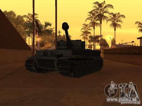 Pzkpfw VI Tiger pour GTA San Andreas vue de droite
