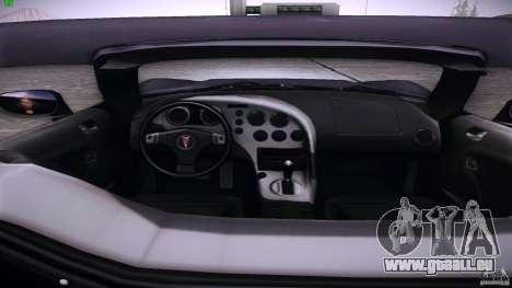 Pontiac Solstice pour GTA San Andreas vue de droite