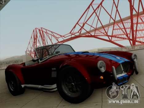 Shelby Cobra 427 für GTA San Andreas Motor