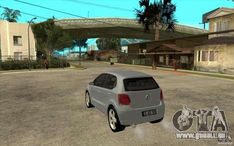 Volkswagen Polo 2011 pour GTA San Andreas sur la vue arrière gauche