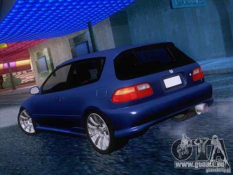 Honda Civic IV GTI pour GTA San Andreas vue de droite