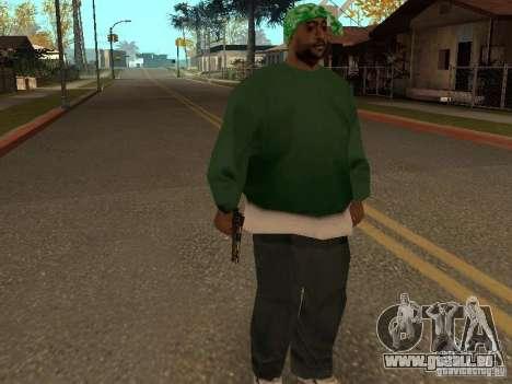 Pistolet 9 mm pour GTA San Andreas quatrième écran
