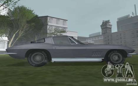 Chevrolet Corvette 427 für GTA San Andreas zurück linke Ansicht
