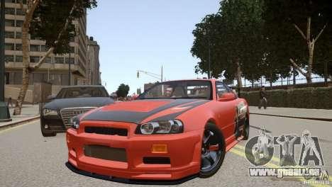 Nissan Skyline GT-R R34 Underground Style pour GTA 4